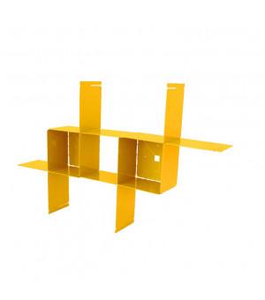 étagère murale design métal jaune miel