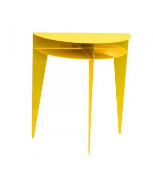 console design métal jaune miel
