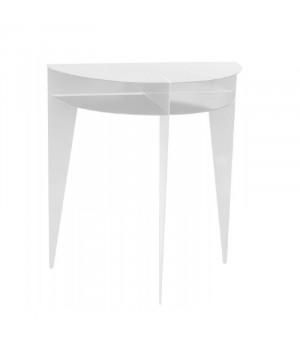 console design en métal blanc