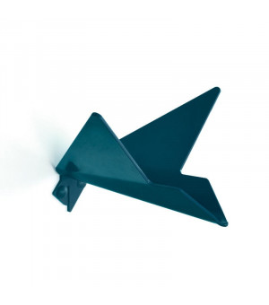patère métal bleu abysses