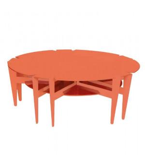 table basse ronde design en métal 100cm